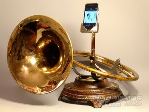 IPhone styling classic handmade brass sound amplifier