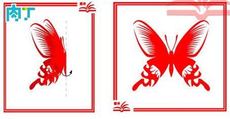 Paper-cut fine Butterfly decoupage Butterfly pattern tutorial diagram