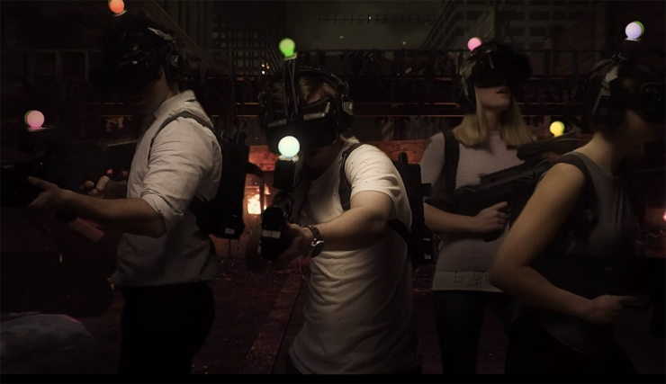 The world's first virtual reality gaming centers opened! 6 a group of zombies