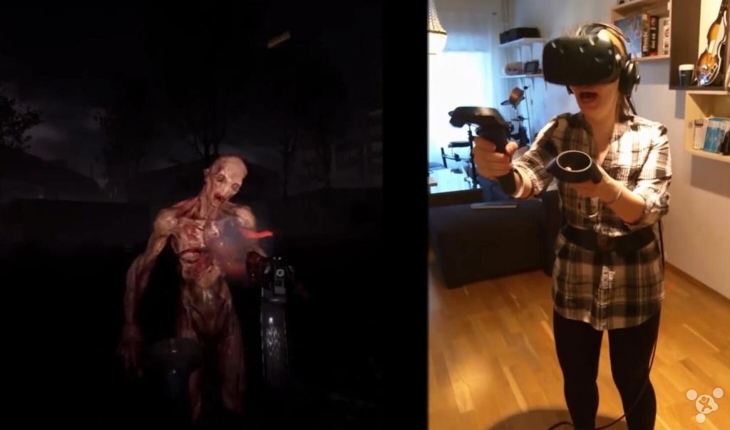 Play VR how scary horror game? Female gamers almost cry