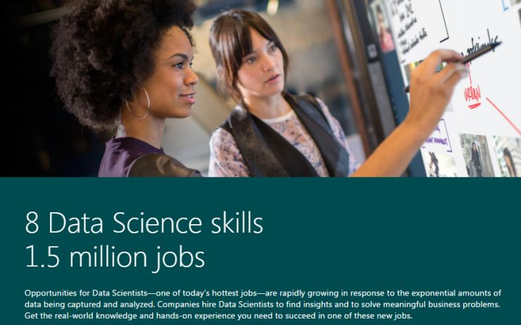 Scientific talent is such data, Microsoft introduced the data professional degree programs